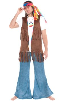 Long Hippie Vest - Adult Costume
