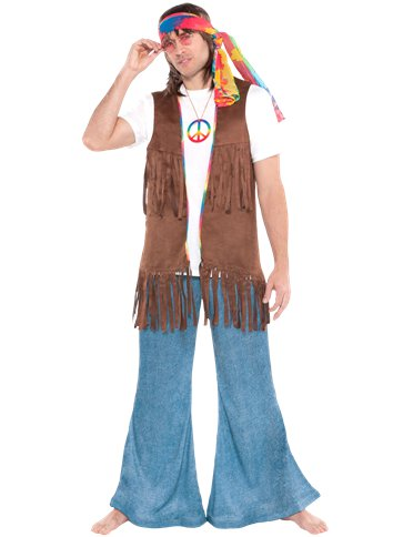 Long Hippie Vest - Adult Costume front