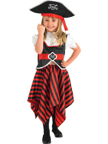 Girl Pirate - Child Costume front