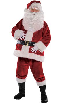 Plush Regal Santa Suit - Adult Costume