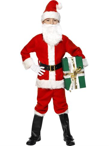 Deluxe Santa Boy - Child Costume front