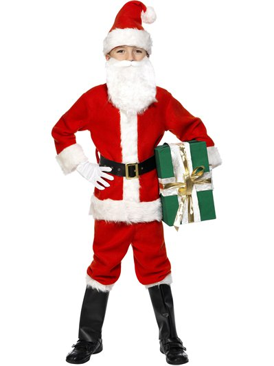 Deluxe Santa Boy - Child Costume
