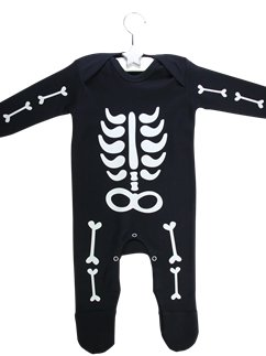 White Skeleton Romper