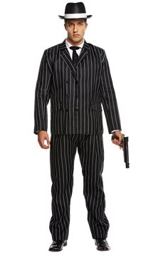 Gangster Value Suit - Adult Costume