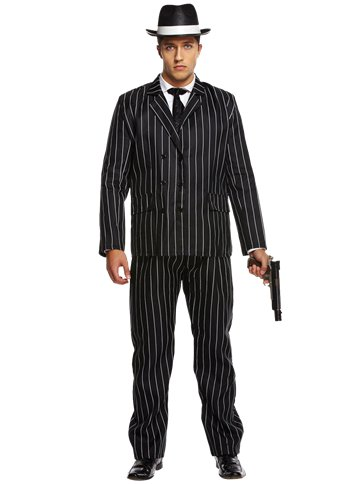 Gangster Value Suit - Adult Costume front