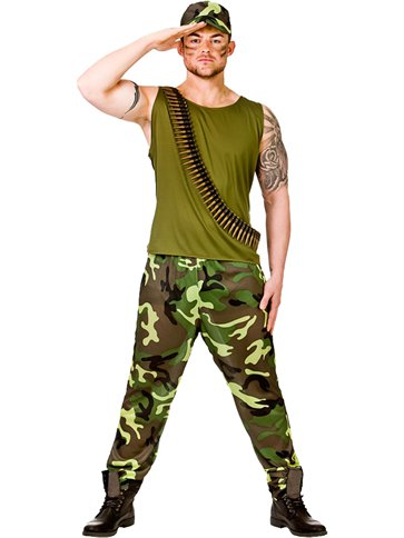 Army Guy - Adult Costume front