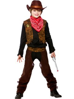 Girls Cowgirl Wild West Rodeo Cowboy Fancy Dress Costume Book Day Outfit