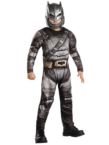 Armoured Batman Deluxe Muscle Chest - Child Costume front