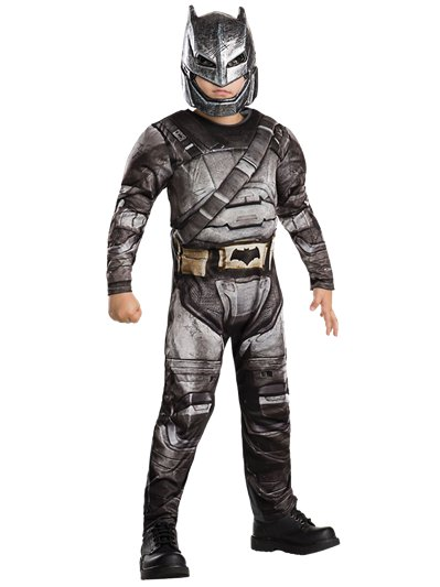 Armoured Batman Deluxe Muscle Chest - Child Costume
