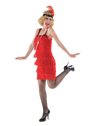 Red Flapper - Adult Costume front