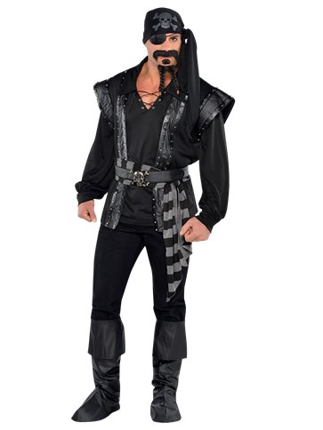 Dark Sea Scoundrel - Adult Costume front