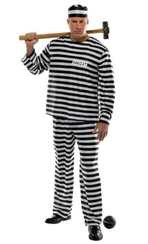 Jailbird Con Plus Size - Adult Costume