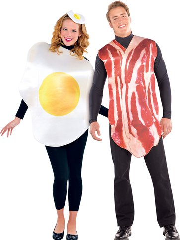 Breakfast Buddies Couple - Adult Costume front