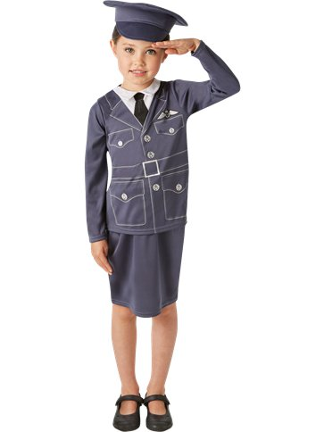 RAF Girl - Child Costumes front