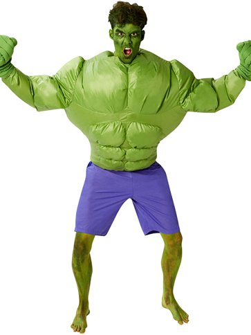Inflatable Hulk - One Size front