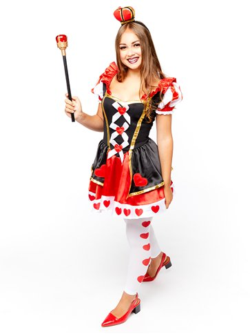 Queen of Hearts - Child and Teen Costume front