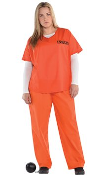 Orange Inmate - Adult Costume