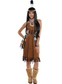Native American Dress - Adult Costume