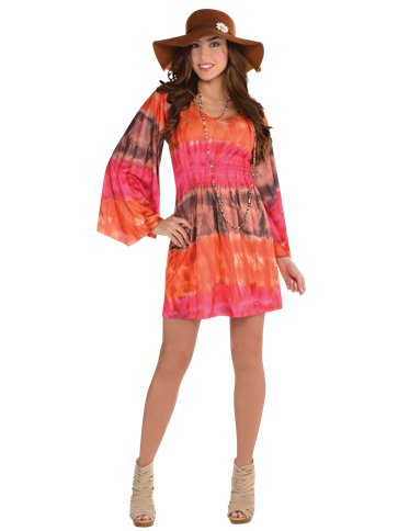 60s Festival Dress - Adult Costume front