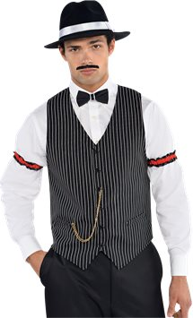 Gangster Waistcoat - Adult Costume