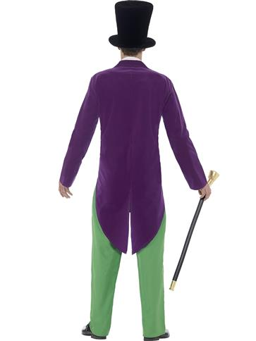 Roald Dahl Willy Wonka - Adult Costume back