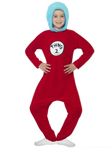 Dr Seuss Thing 1/2 - Child Costume right