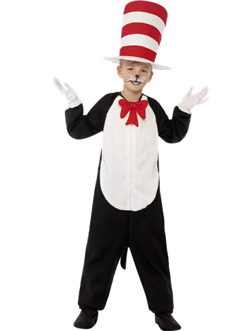 Cat in The Hat - Child Costume front