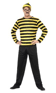Where's Wally Odlaw - Adult Costume