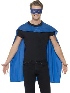 Blue cape and mask