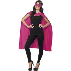 Pink Cape & Mask - Adult