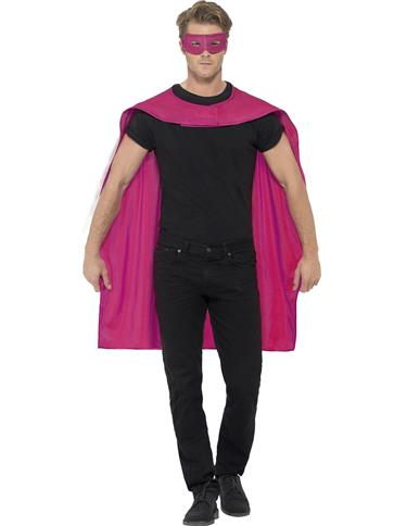 Pink cape and mask - Adult Costume left