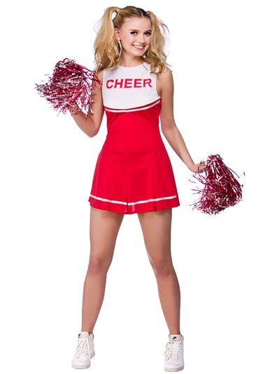 Red High School Cheerleader - Adult Costume