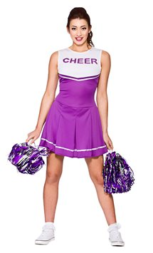 Purple High School Cheerleader - Adult Costume