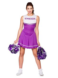Purple High School Cheerleader