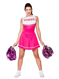 Roze High School Cheerleader - Volwassene Kostuum