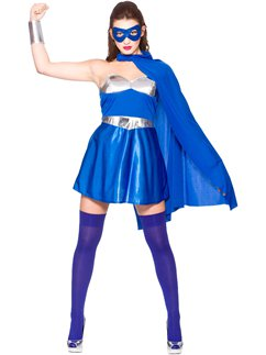 Supereroina blu - Costume Adulto
