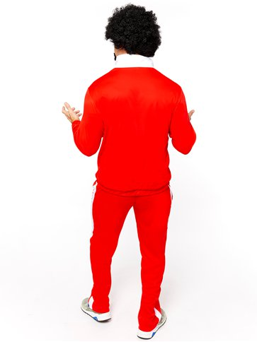 80's Red Retro Trackie - Adult Costume back