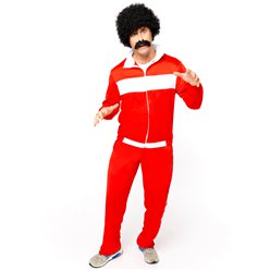 "80's Red Retro Trackie - 42-44"" Chest"