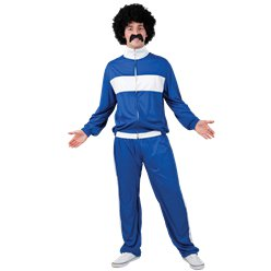 "80's Blue Retro Trackie - 42-44"" Chest"