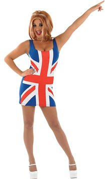 Union Jack Dress - Adult Costume