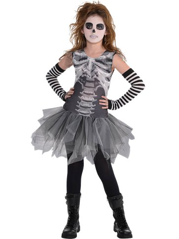 Black and Bone Dress - Child Costume front