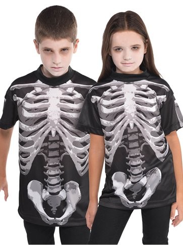 Black and Bone T-Shirt - Child Costume front