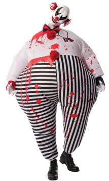 Creepy Inflatable Clown - Adult Costume