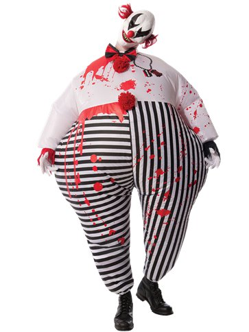 Creepy Inflatable Clown - Adult Costume | Party Delights