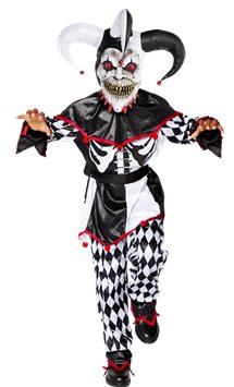 Sinister Jester Clown - Child & Teen Costume