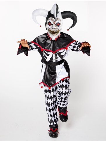Sinister Jester Boys Costume Party Delights