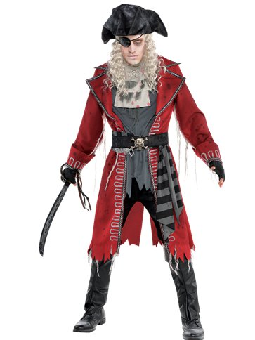Zombie Pirate Captain Adult Fancy Dress Party Delights