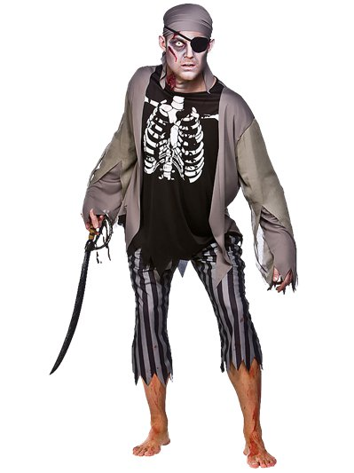 Zombie Skeleton Pirate - Adult Costume