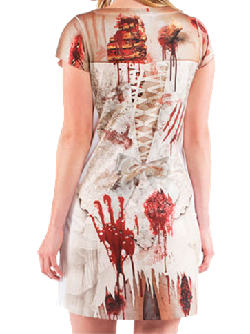 Zombie Bride Photorealistic Dress Adult Costume Party