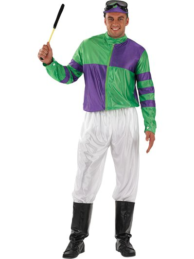 Green and Purple Jockey - Adult Costume
